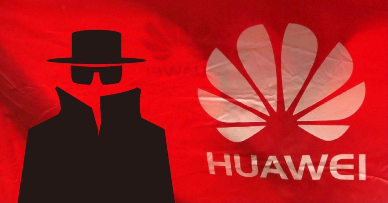 Huawei bandera y espia