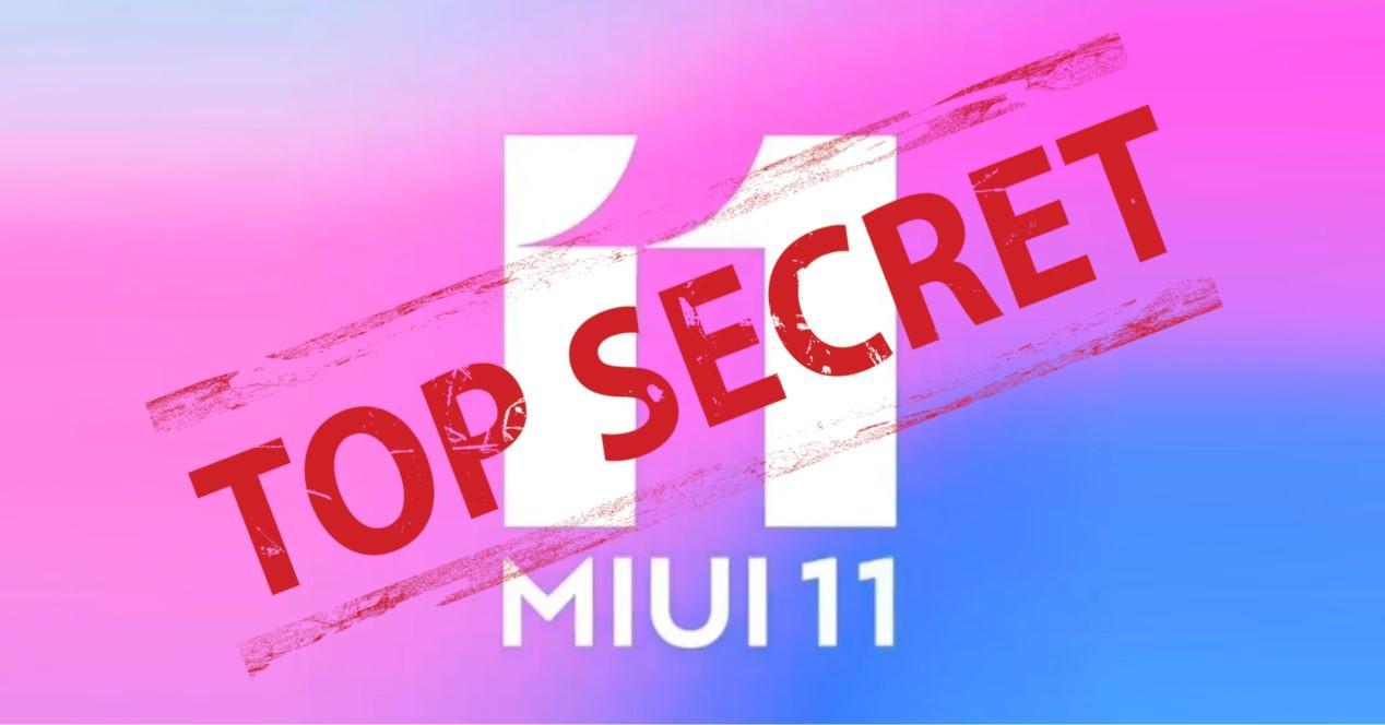 MIUI 11 top secret