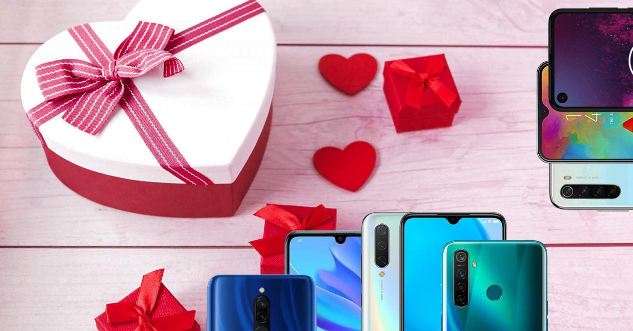Moviles baratos regalar San Valentin