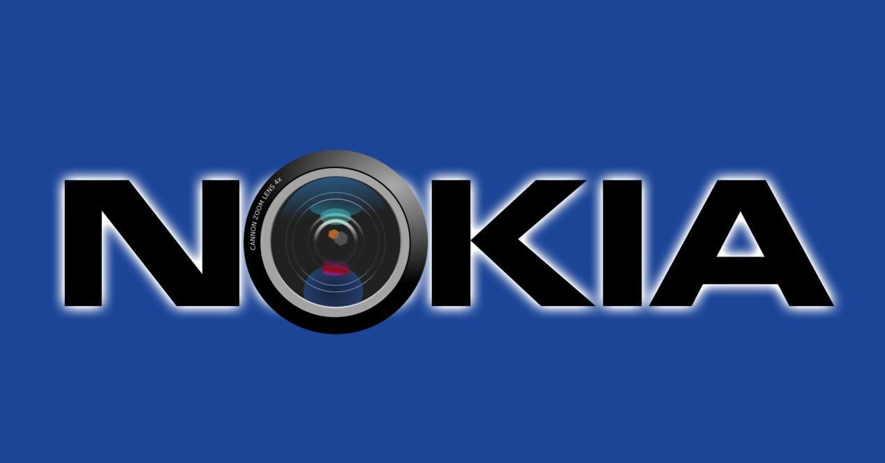Nokia logo con lente de camara