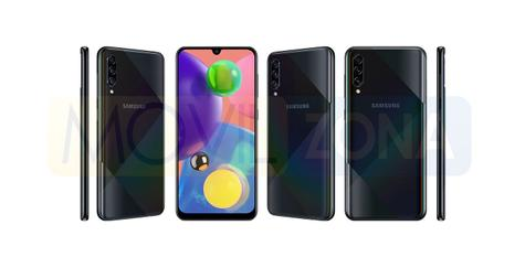 Samsung Galaxy A70s negro