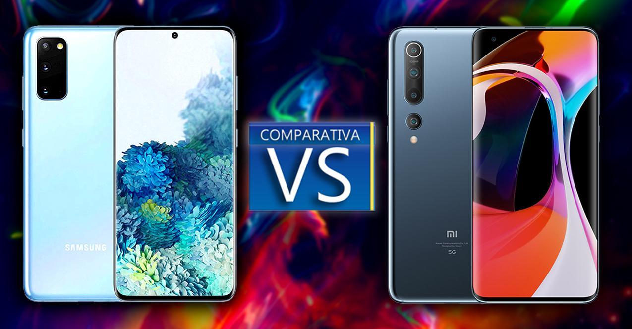 Comparativa Samsung Galaxy S20 vs Xiaomi Mi 10