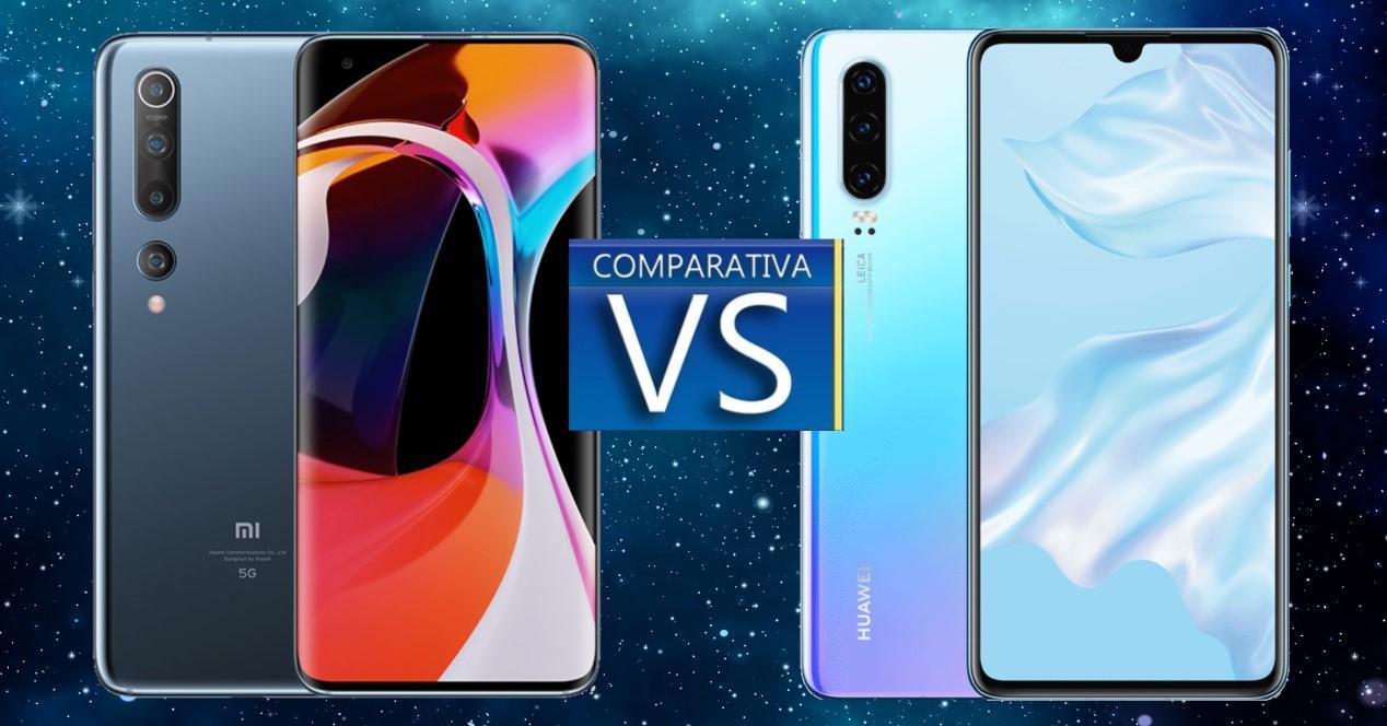 Xiaomi Mi 10 vs Huawei P30