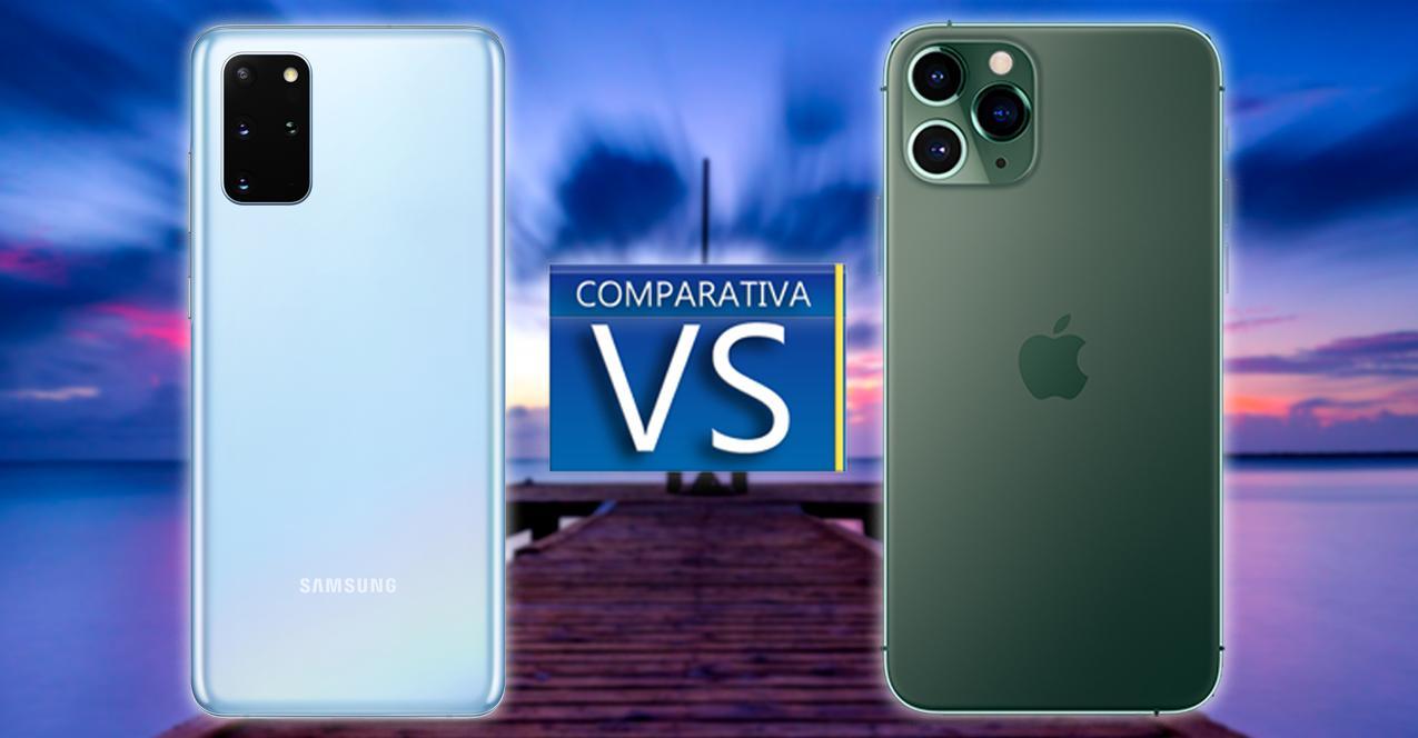 comparativa samsung galaxy s20 plus vs iphone 11 pro