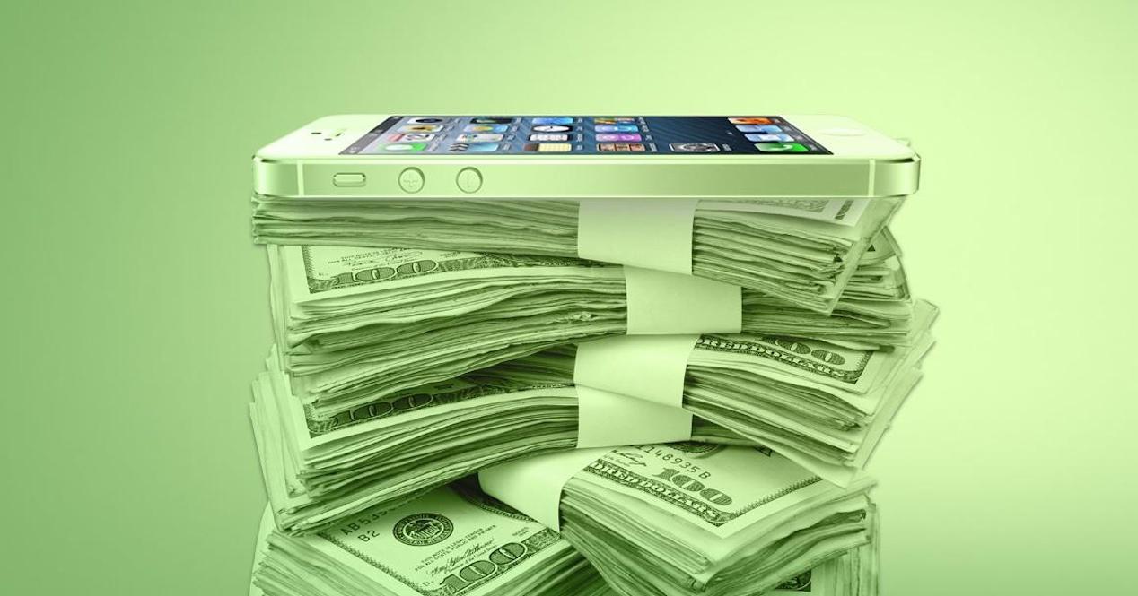 iPhone dinero