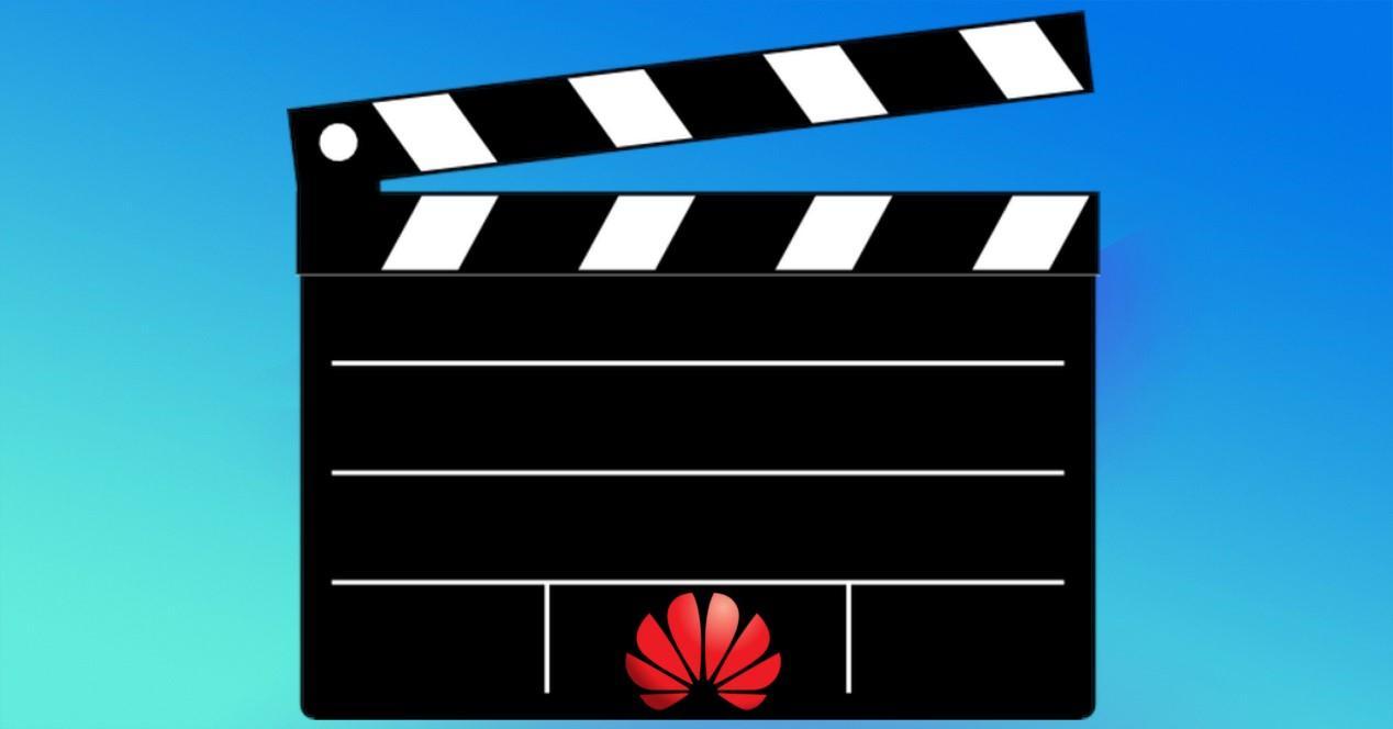 logo de Huawei en claqueta