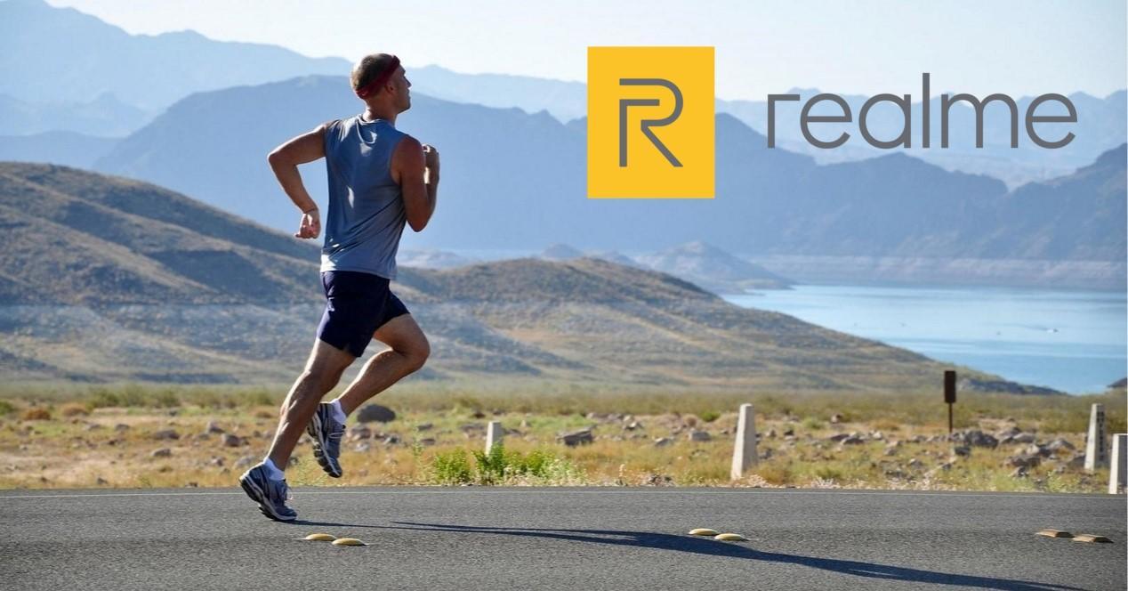 runner y logo de realme