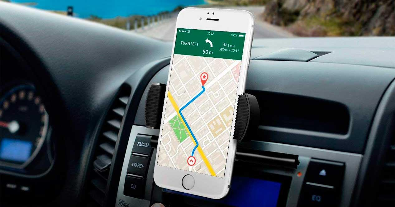 soporte teléfono móvil GPS