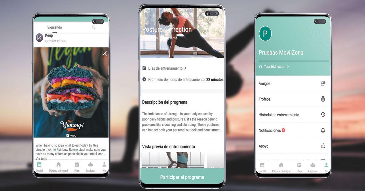 Imagen aplicación Keep Yoga