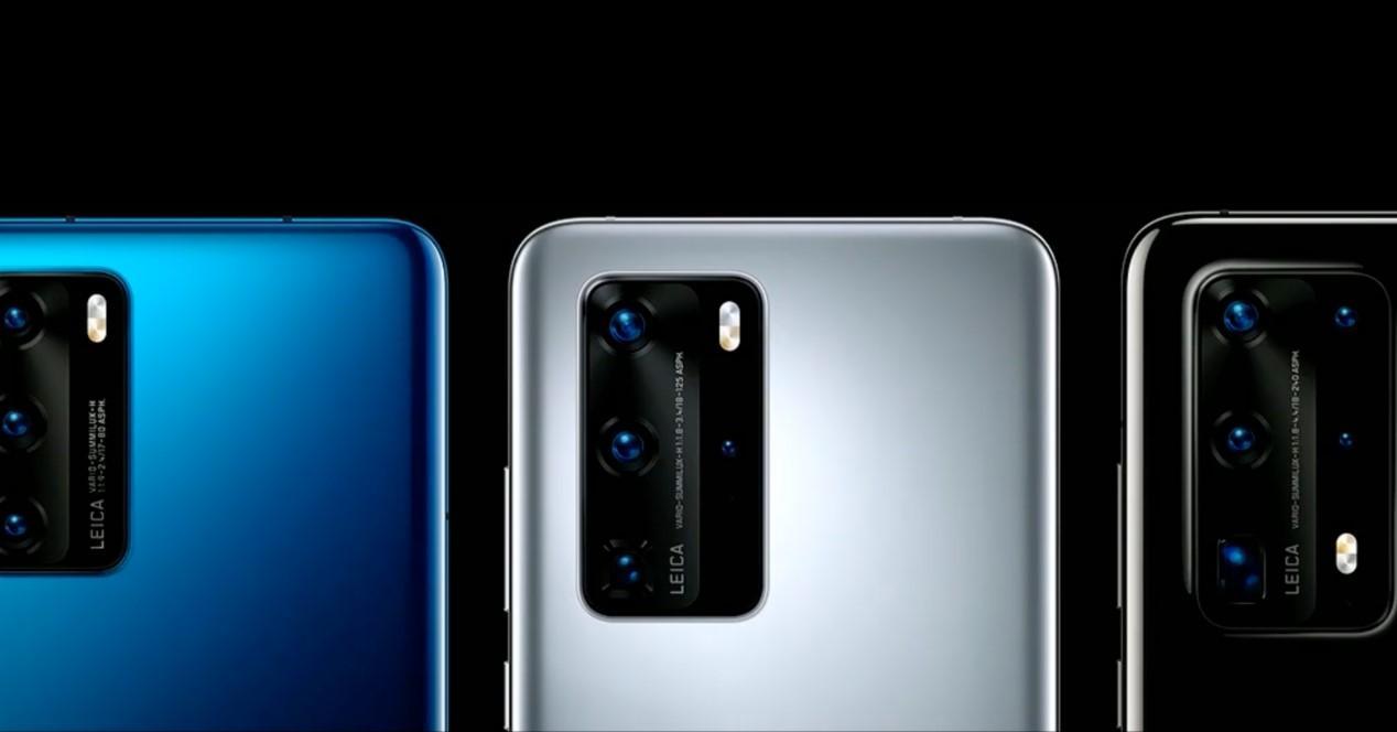 Huawei P40 camaras fondo negro