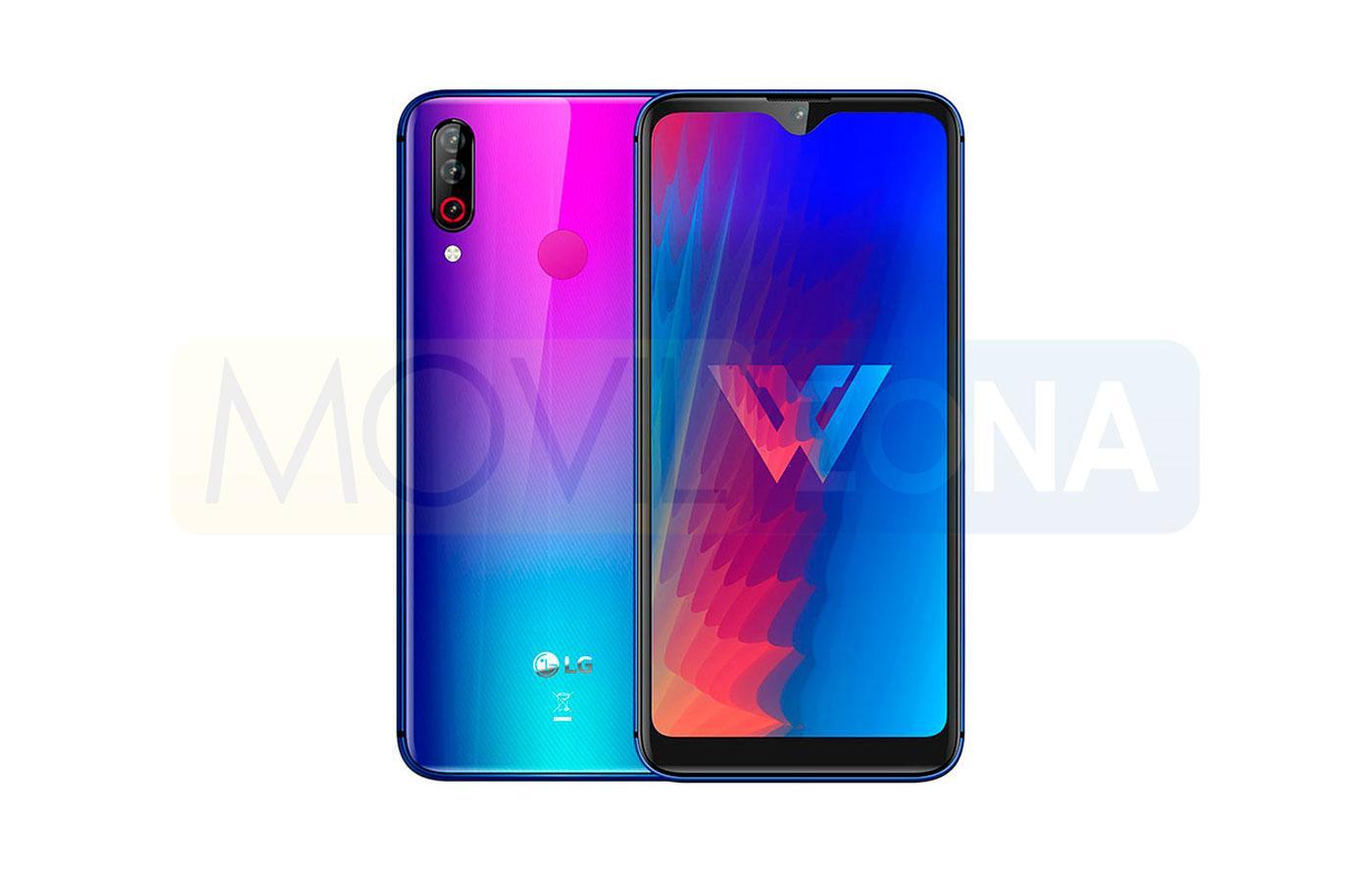 LG W30 diseño