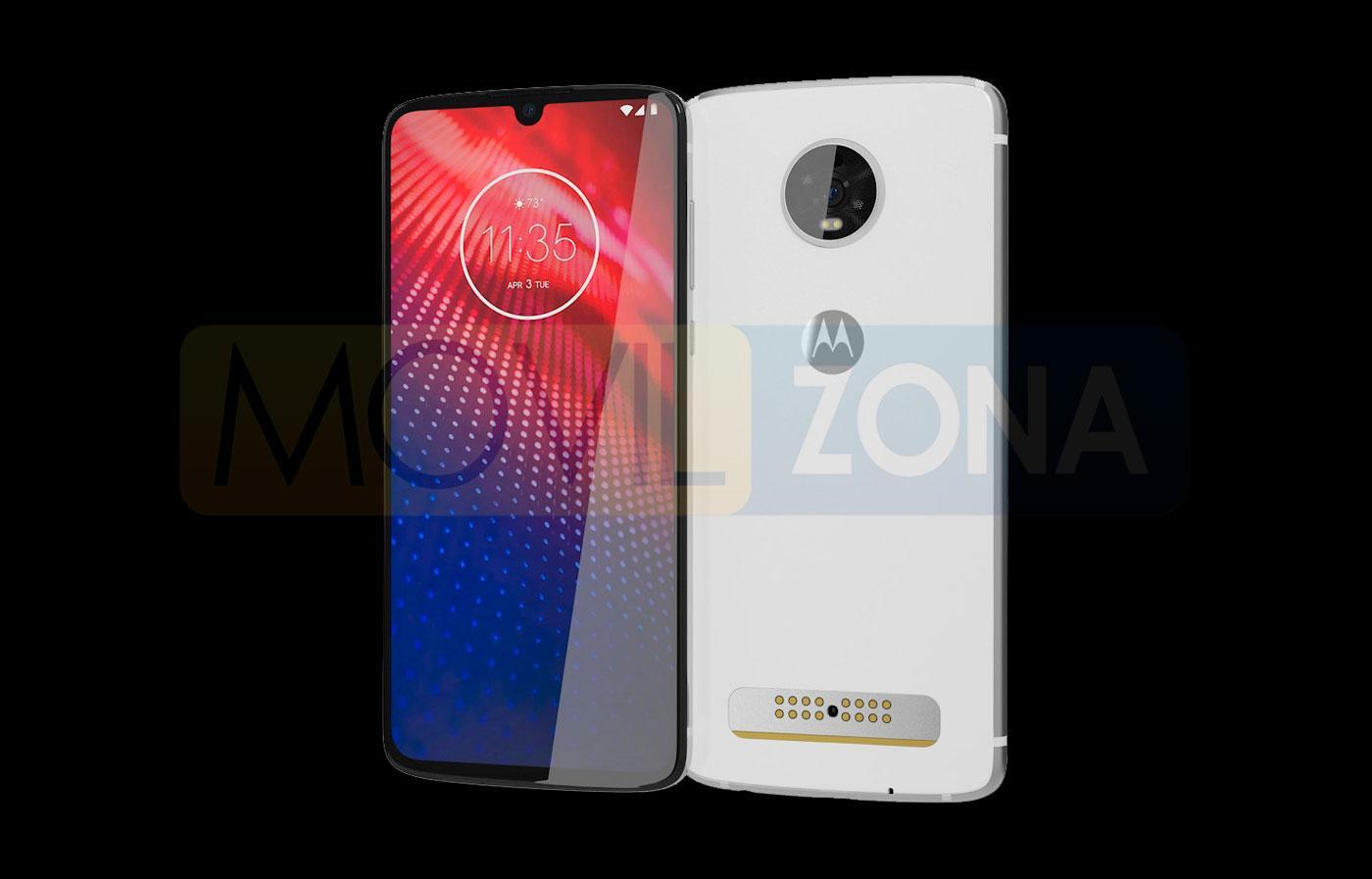 Motorola Moto Z4 blanco