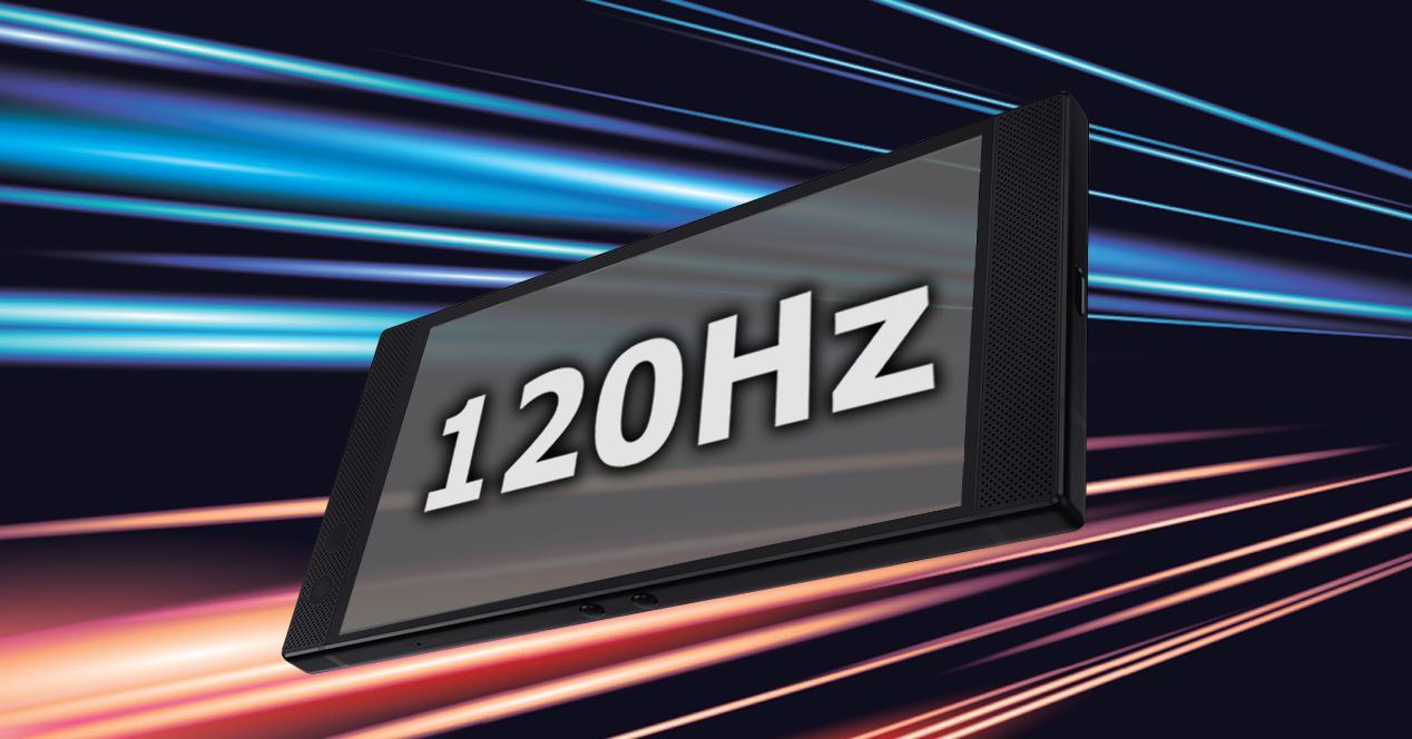consumo bateria moviles 120 Hz
