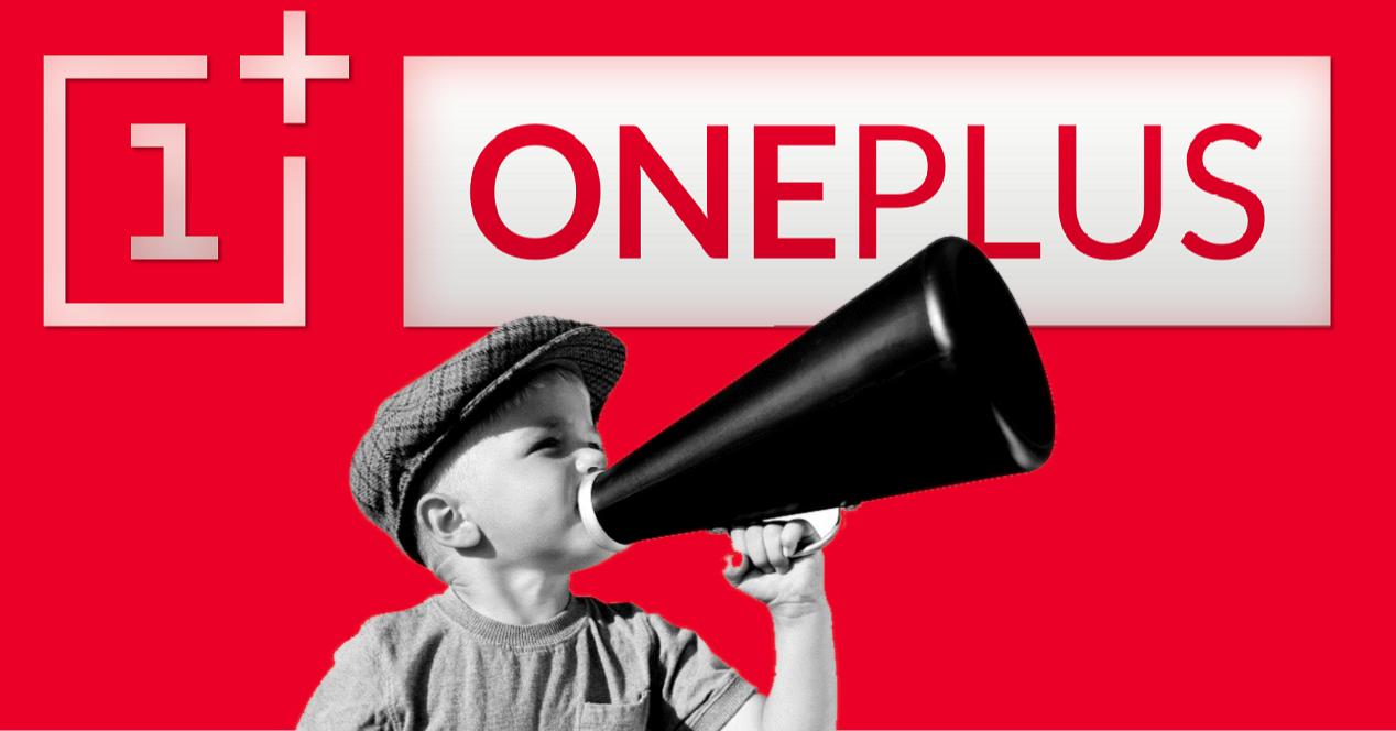 oneplus y niños con megafono