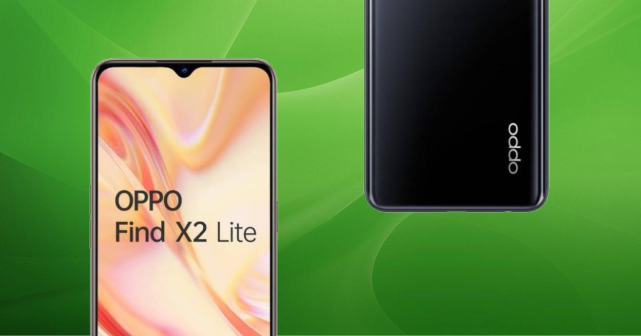 OPPO Find X2 Lite fondo verde