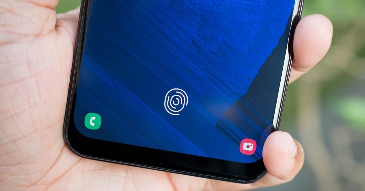 Samsung Galaxy A50 huella en pantalla