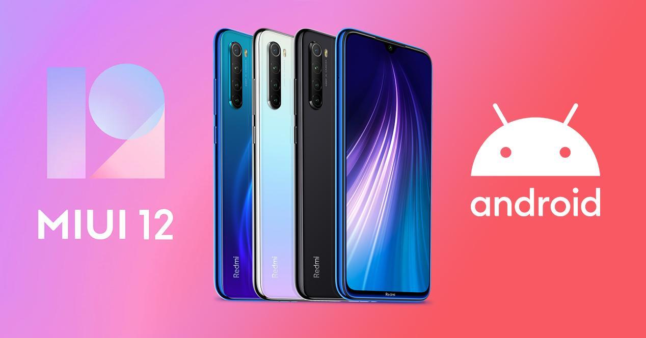 actualización redmi note 8 miui 12 android 10
