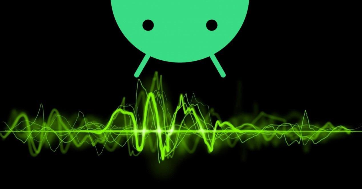android y ondas de musica