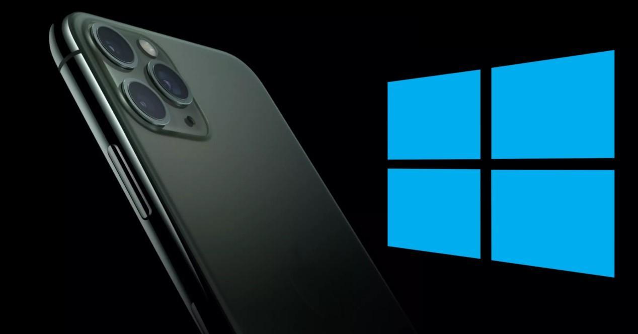 iPhone y logo de Windows