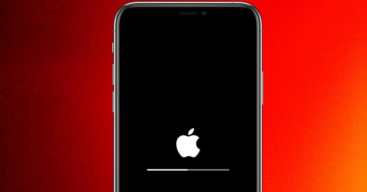 iphone actualizando fondo rojo