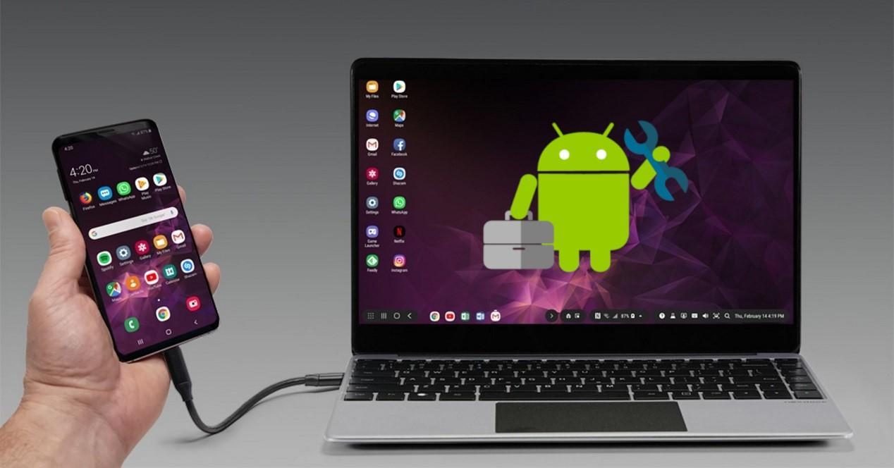 movil conectado al ordenador con android