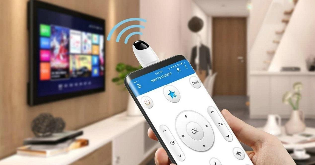 movil infrarrojos apuntando a la tele