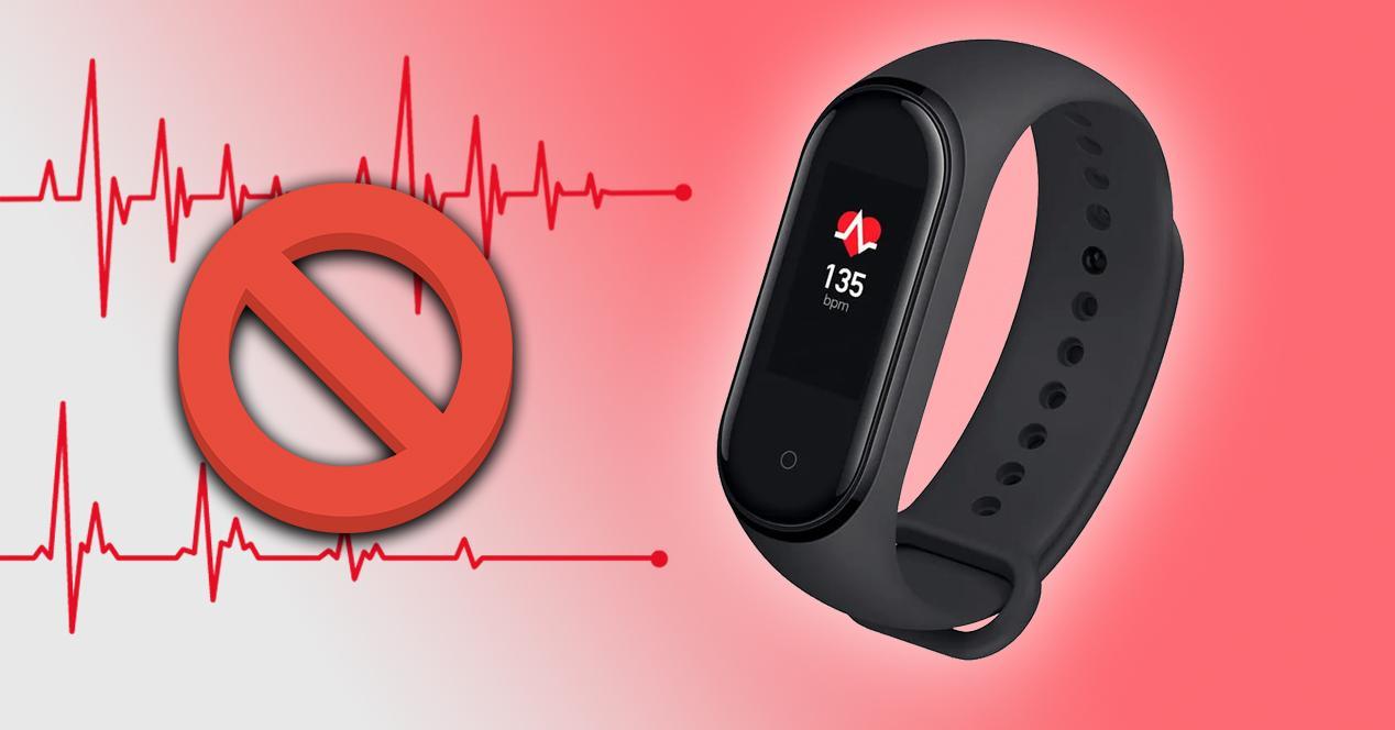problemas sensor ritmo cardiaco Mi Band 4
