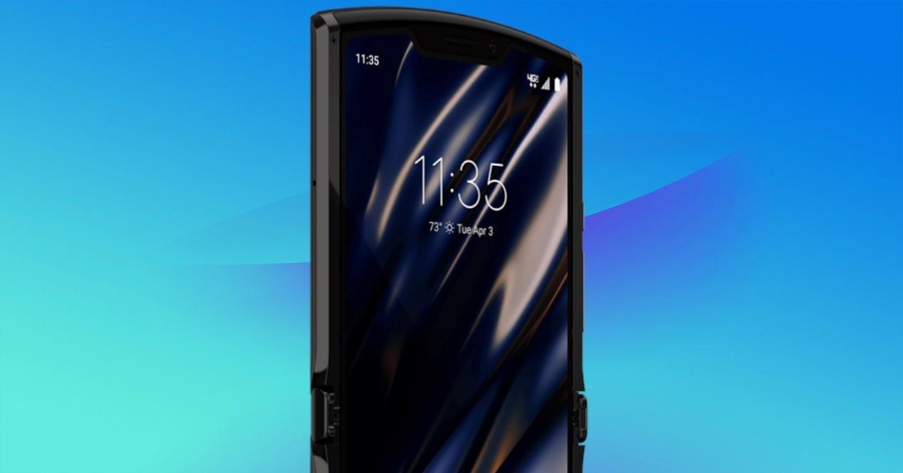 Motorola Razr 2 fondo azull