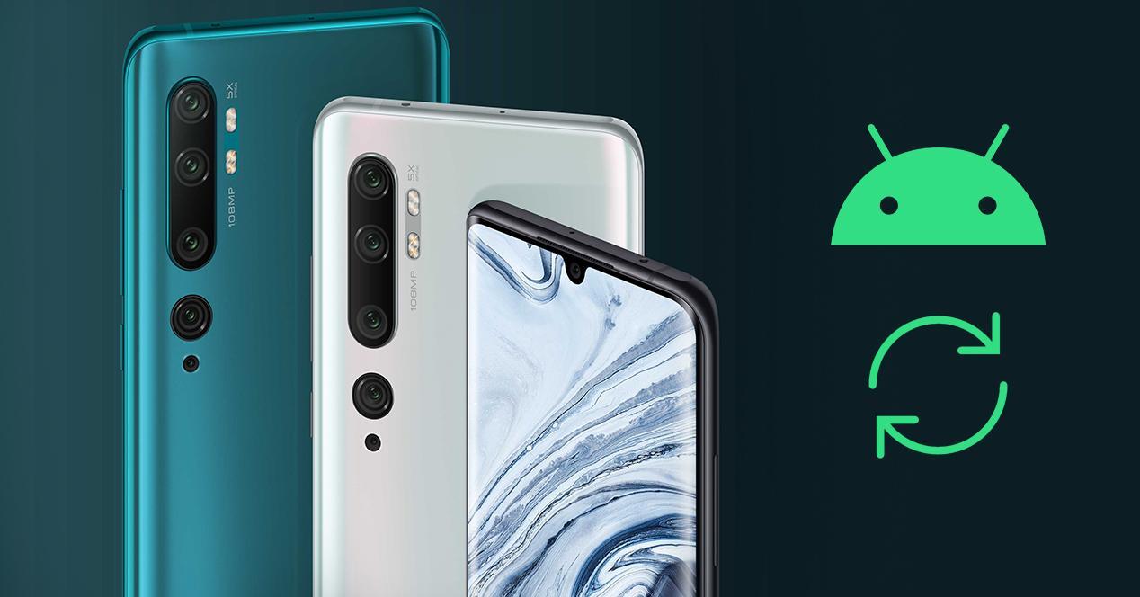 Xiaomi Mi Note 10 actualización Android 10