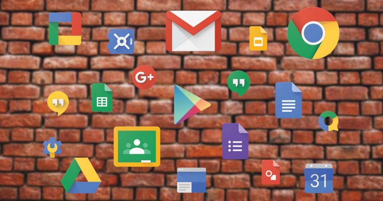 apps y muro de fondo