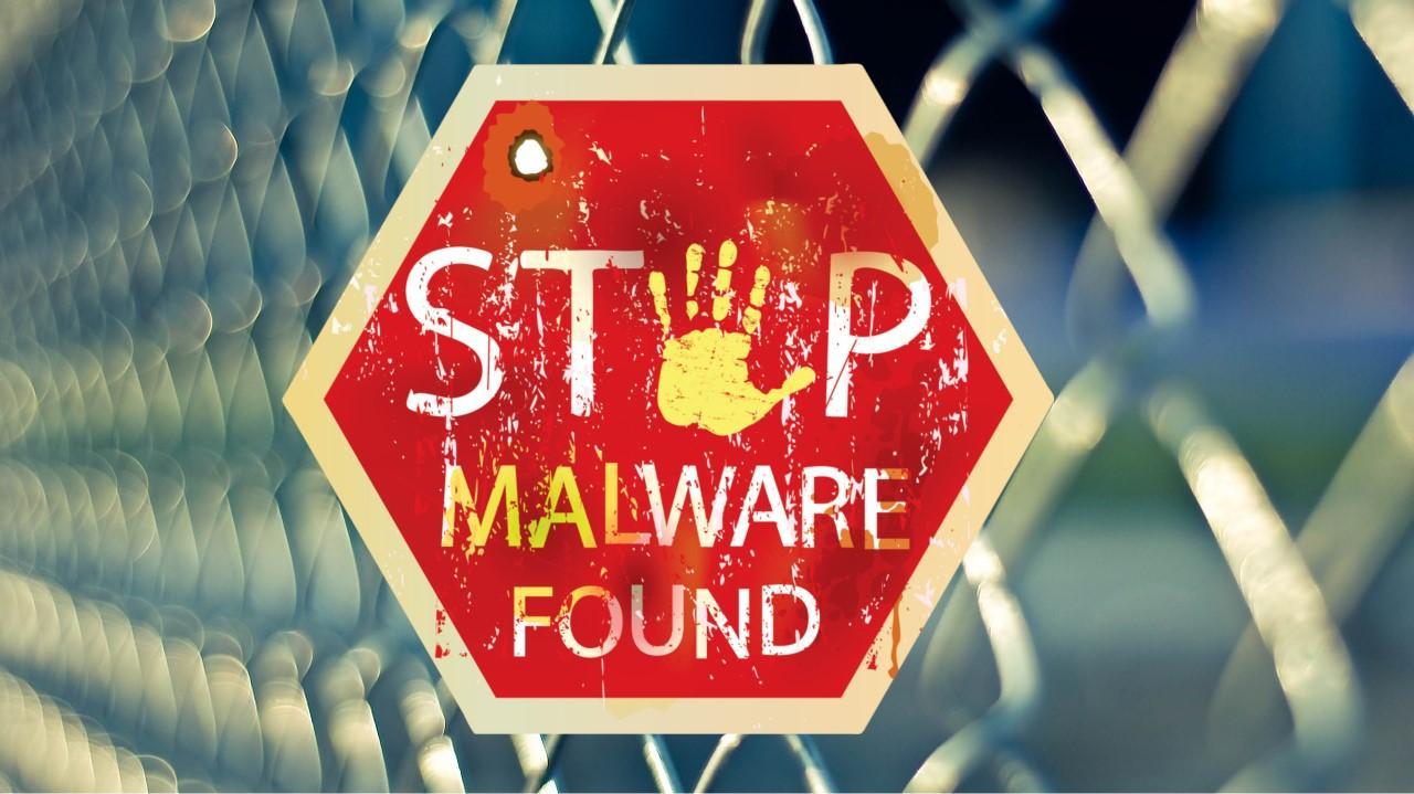 cartel de malware encontrado