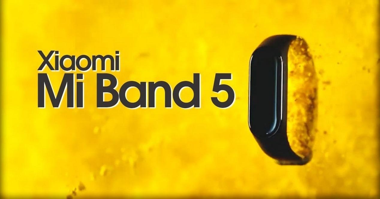 mi band 5 fondo amarillo