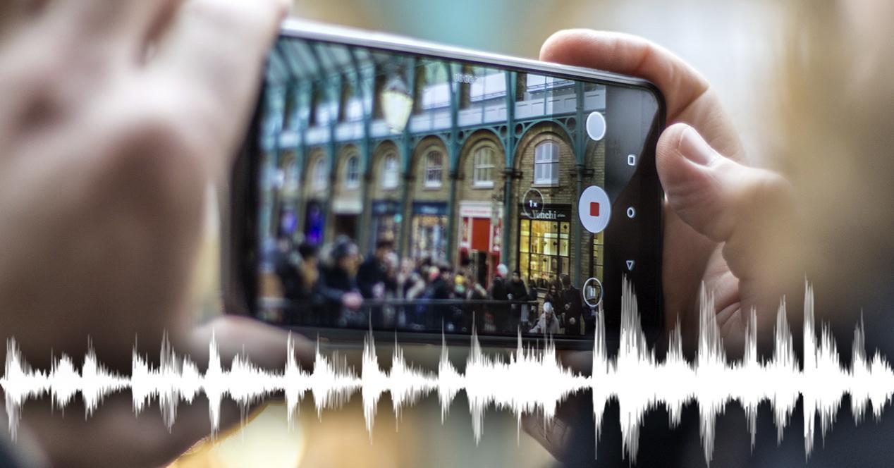 zoom de audio movil grabando