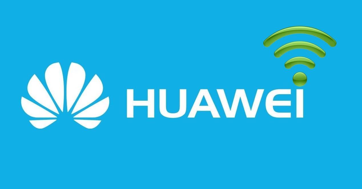 Huawei nombre fondo azul y Wifi
