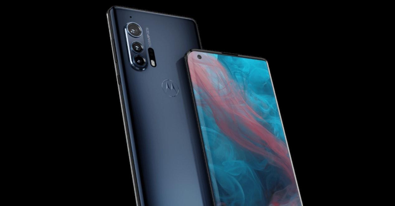 Motorola Edge+ fondo negro