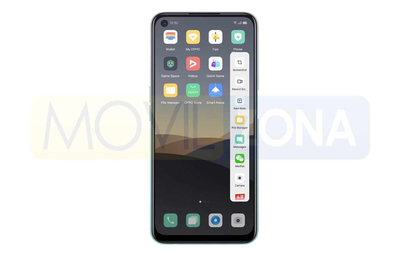 OPPO A52 pantalla