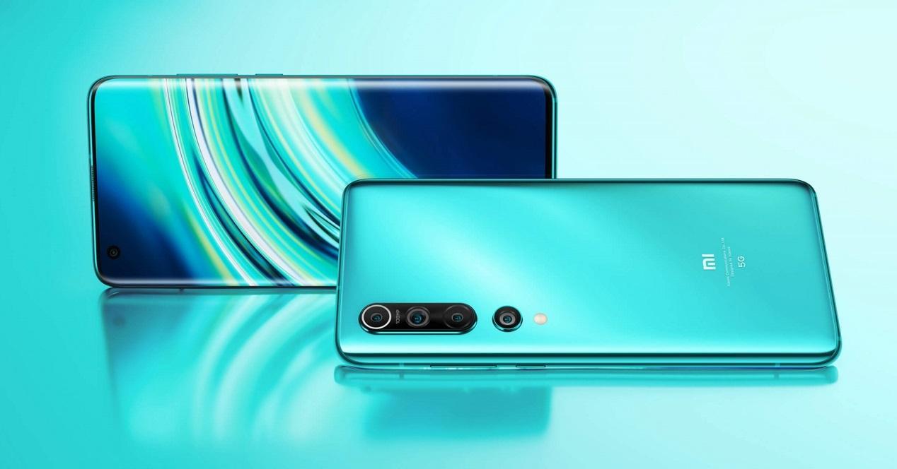 Xiaomi Mi 10 fondo verde