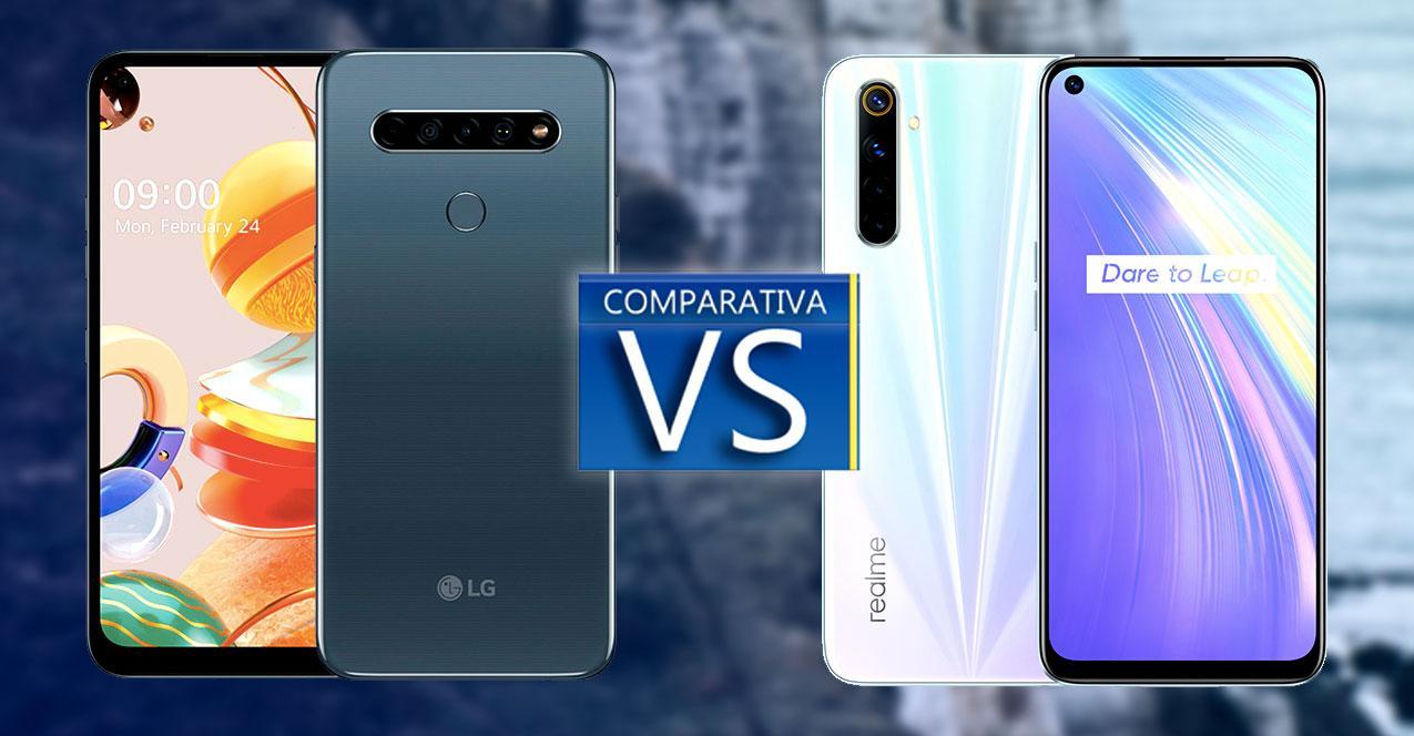comparativa lg k61 vs realme-6