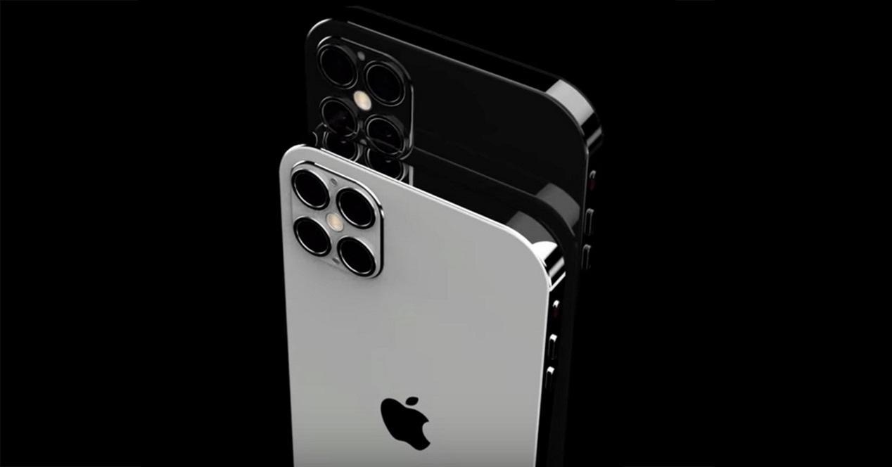 iPhone 12 concepto blanco y negro