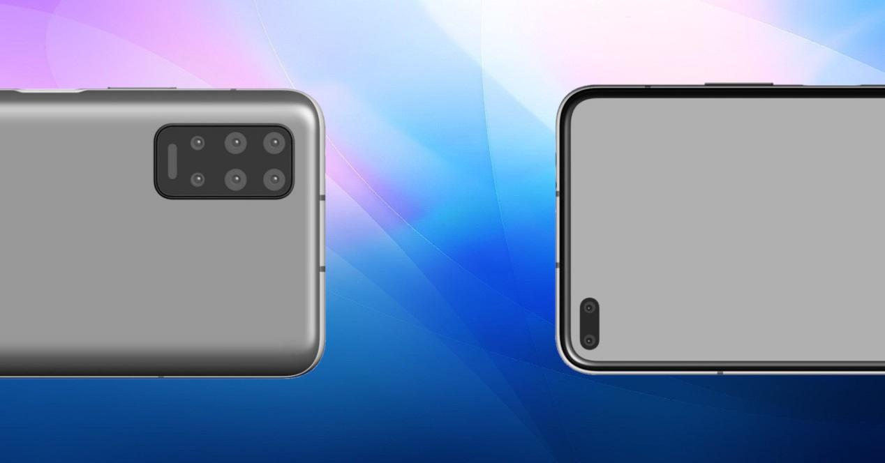 Huawei Mate 40 concepto y fondo de color