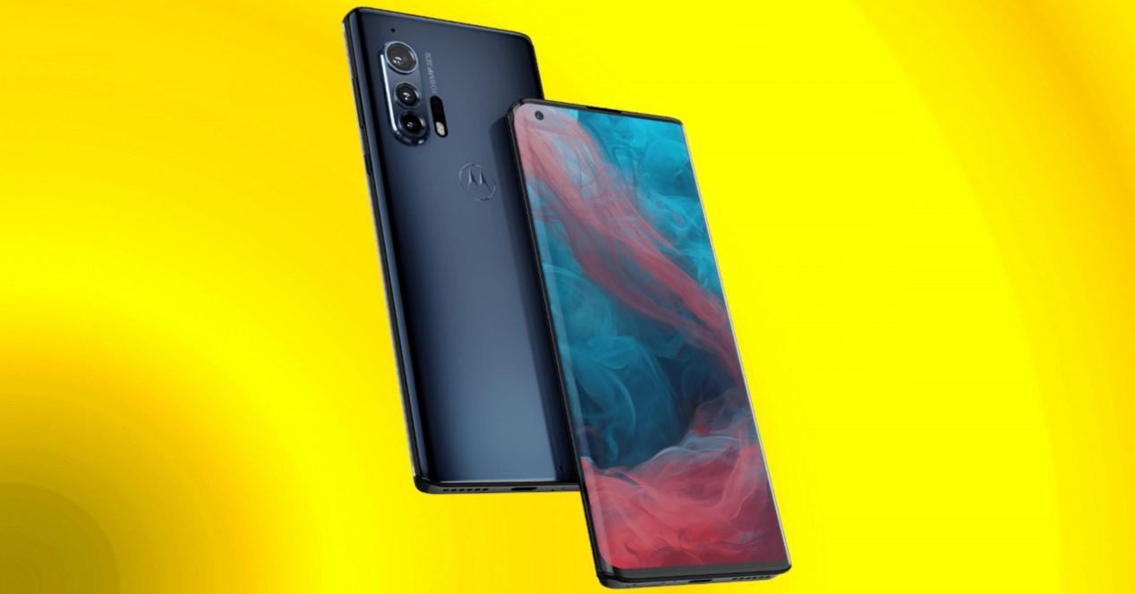 Motorola Edge Plus fondo amarillo