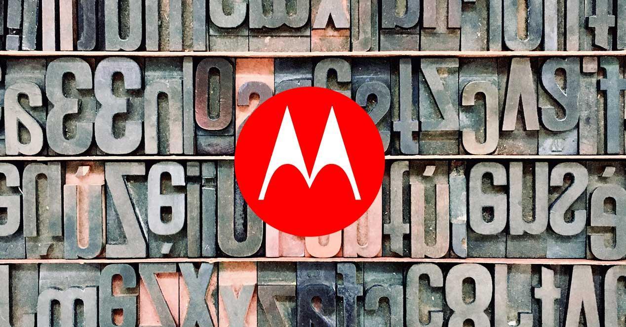 cambiar tipo letra Motorola