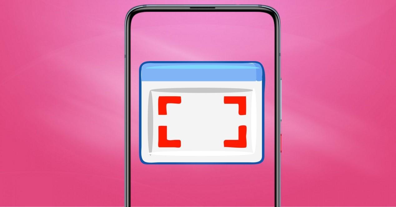 captura de pantalla y fondo rosa