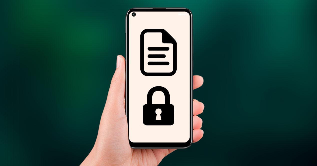 documentos archivos protegidos movil