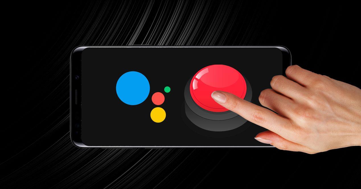 google assistant botón movil