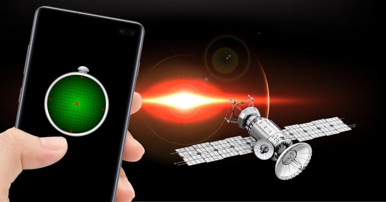 gps en el movil y en el espacio