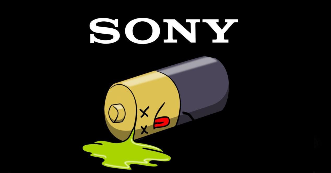 logo sony y bateria muerta