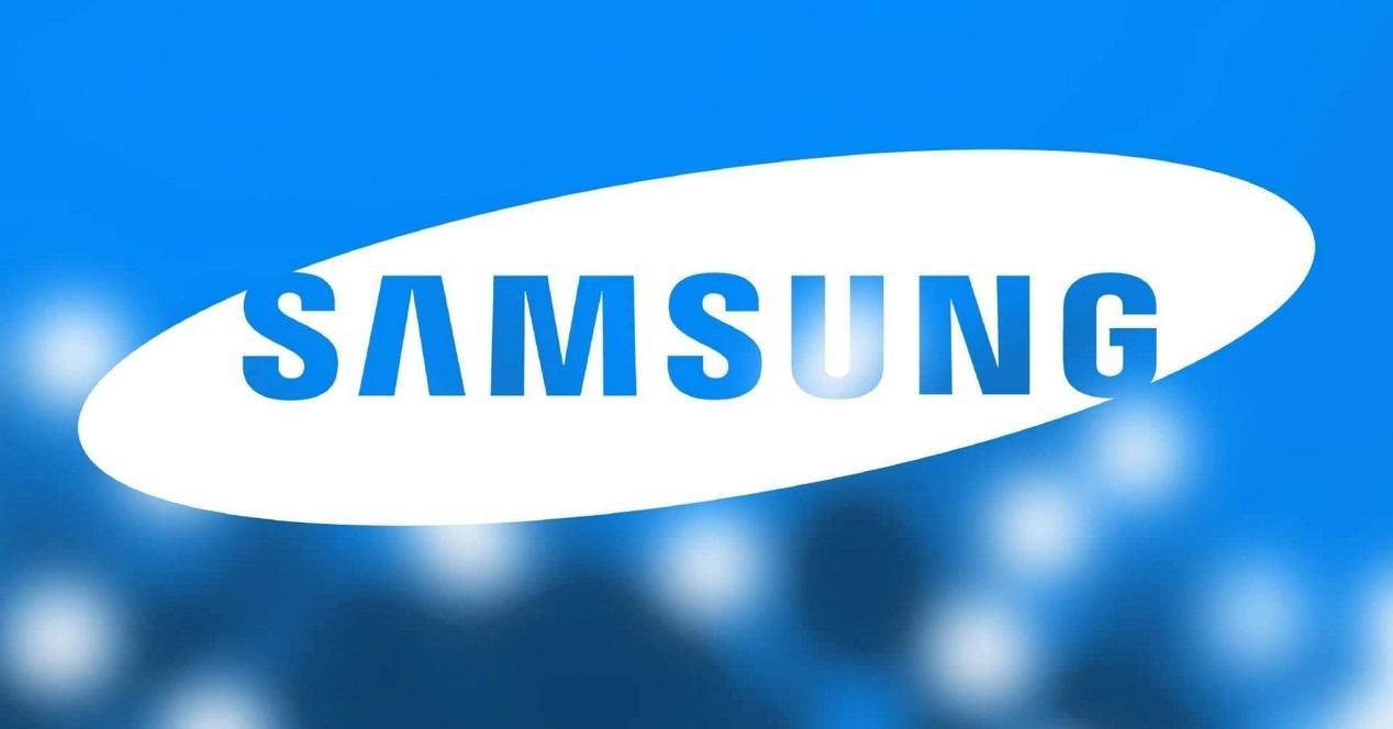 samsung logo azul
