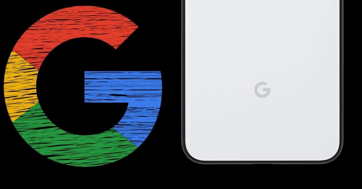 Google Pixel 4 y letra de Google