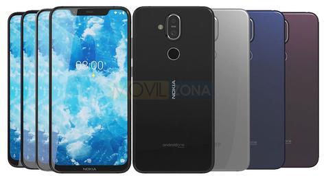 Nokia 8.1 diseño